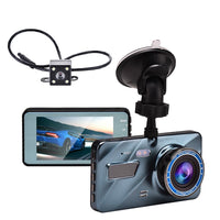 "3 in 1 Rear View Dual Dash Camera DVR  Full HD 3.6""Cycle Recording Night Vision G-sensor Dashcam"