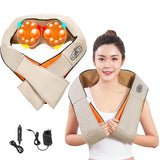 Electrical 4D shawl Electric Shiatsu neck Shoulder Massager Back Neck massager of neck kneading Infrared Car Home Use Machine