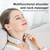 Neck Massager Portable Cordless Neck Massage Machine with Heating Vibration Impulse Function for Home Car Office Travel Supplies