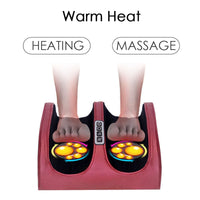 New 6-in-1 Electric Foot Care Massager Machine Plantar Calf Arm Relaxing 3 Levels Heating Therapy Adjustable Prevent Leg Pain