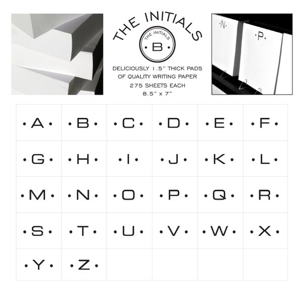 Initial Notepads