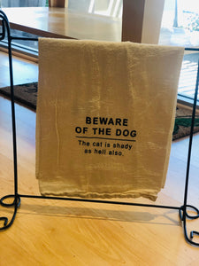 Tea Towel-Beware of Dog