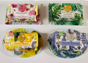 Scented shea butter soap with matching dish