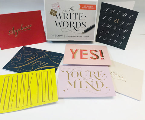 The Write Words notecards