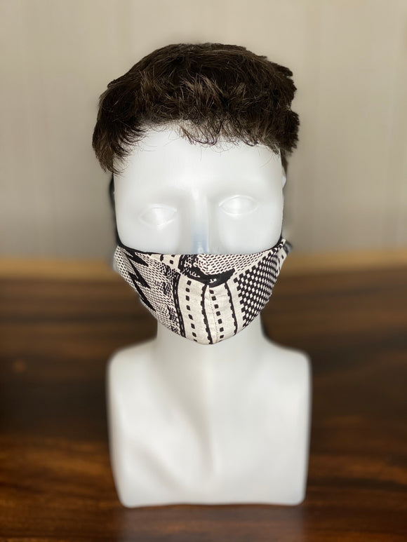 BAMBOO-LINED DUTCH FABRIC FACE MASKS - GEOMETRY II