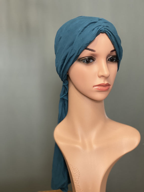 HALO HEAD WRAPS - POWDER BLUE SOLID FRONT VIEW