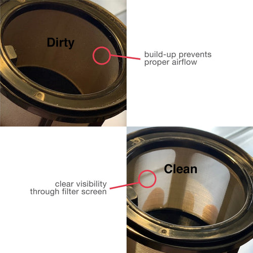 RevAir Dirty vs. Clean Filter Basket
