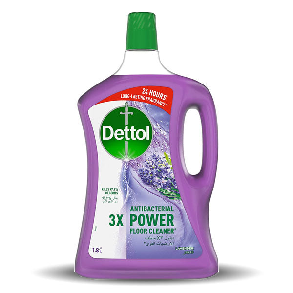 Dettol Lavender Antibacterial Power Floor Cleaner - 3L +900ml