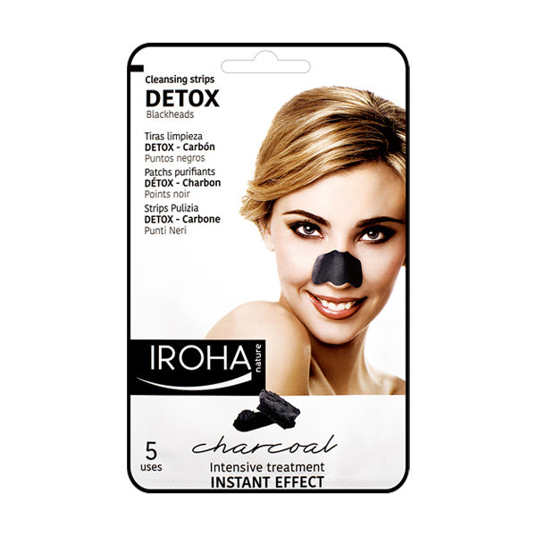 Iroha Nature Cleansing Strips Detox Blackheads Charcoal
