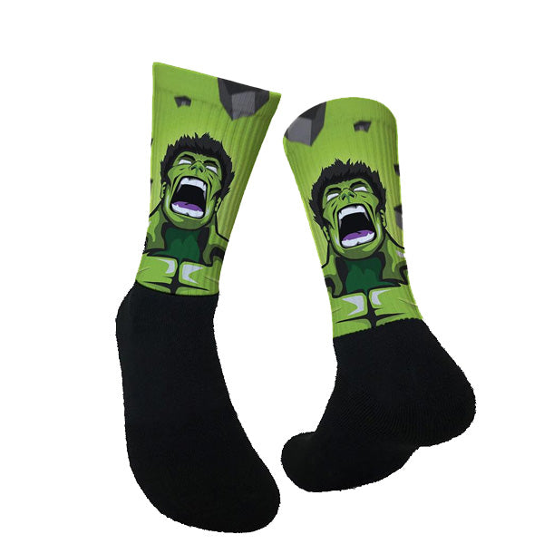 Lurk in Shrubs Socks - Hulk
