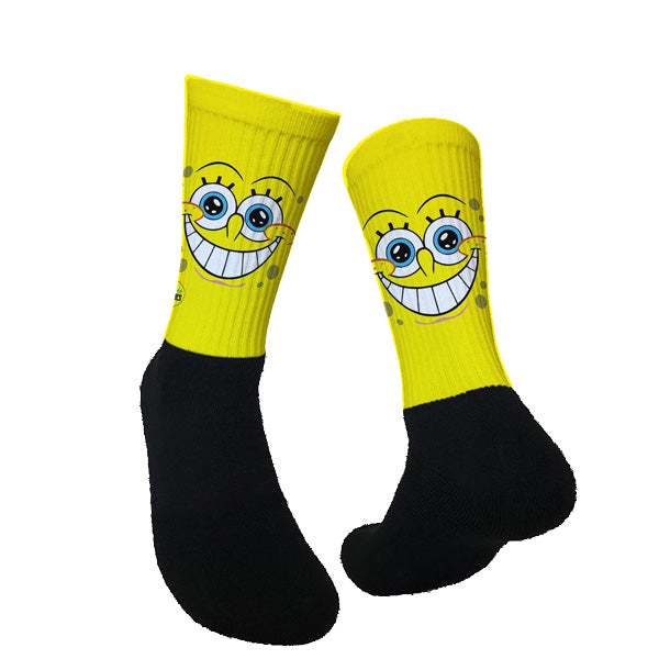 Lurk in Shrubs Socks - Spongebob