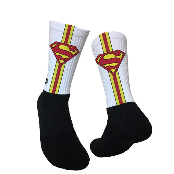 Lurk in Shrubs Socks - Superman
