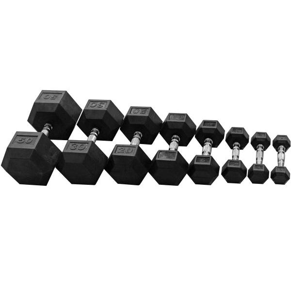 Rubber HEX Dumbbells for Lifting at Home