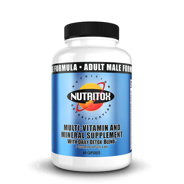 MAN Supplements - Nutritox - Adult Male 2-A-Day Formula W/ Daily Detox Blend - 60 Capsules