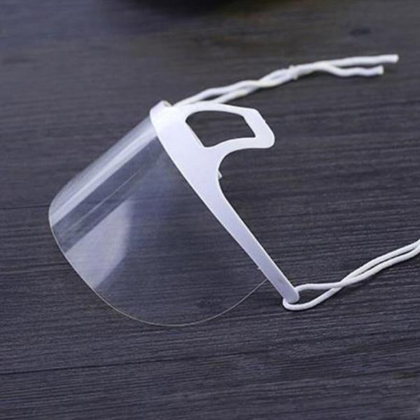 Clear Plastic Face Mask Anti Fog Dust Proof Cleaning Supplies
