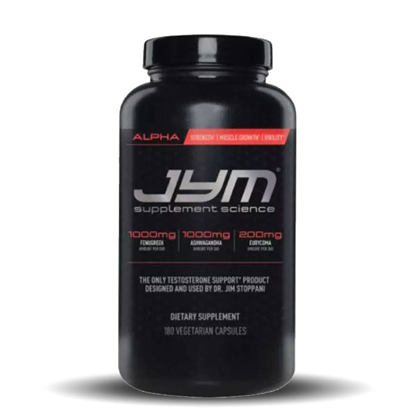 JYM Supplement Science - Alpha JYM - Unflavored - 180 Caps
