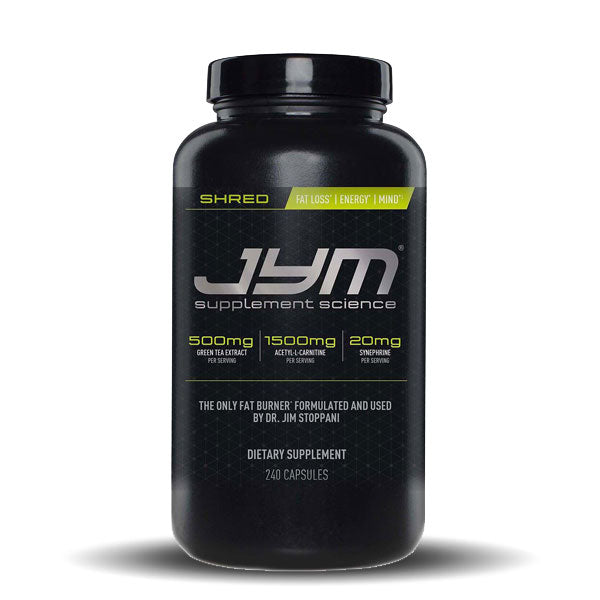 JYM Supplement Science - Shred JYM - Unflavored - 240 Vegetarian Capsules