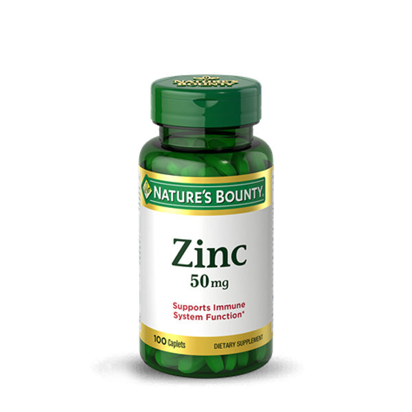 Nature's Bounty - Zinc - 50 mg - 100 Caplets