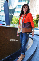 leather bucket tote bag