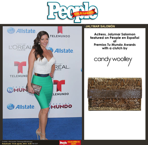 Jalymar Salomon in People en Español magazine at Premios Tu Mundo