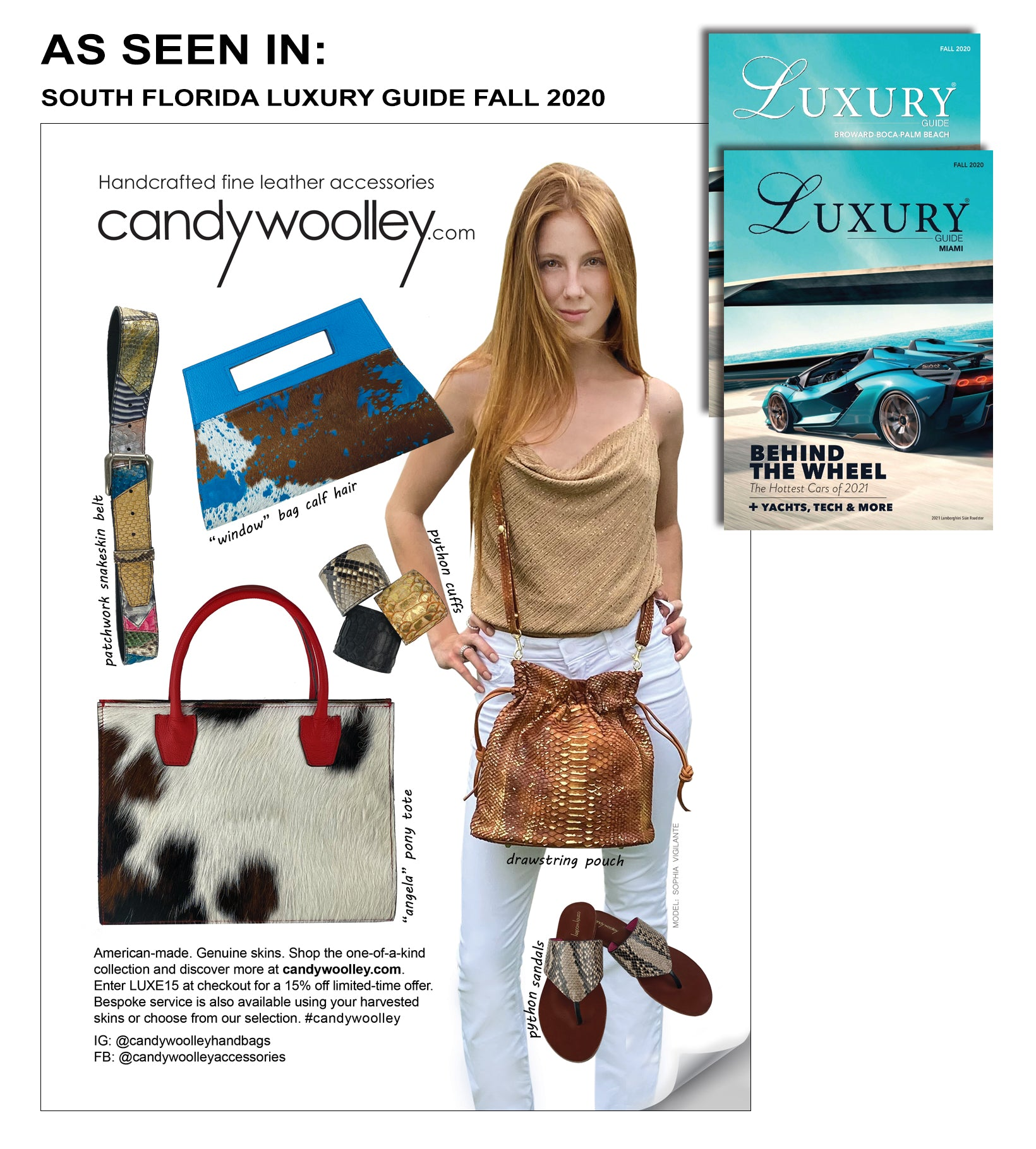FEATURED ON SOUTH FLORIDA LUXURY GUIDE - FALL 2020