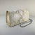 WHITE IRIDESCENT BOX CLUTCH, EXOTIC