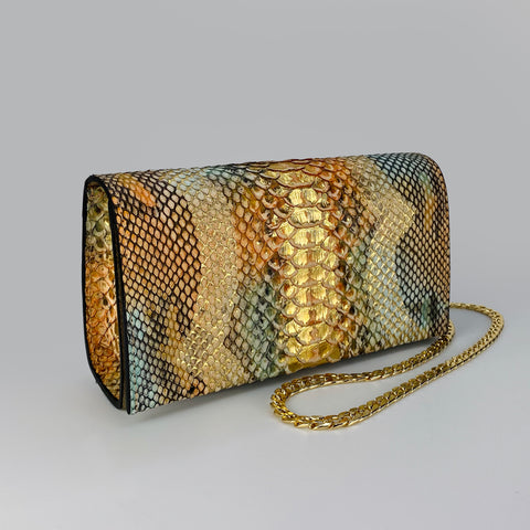 PASTELS & GOLD, BOX CLUTCH, EXOTIC