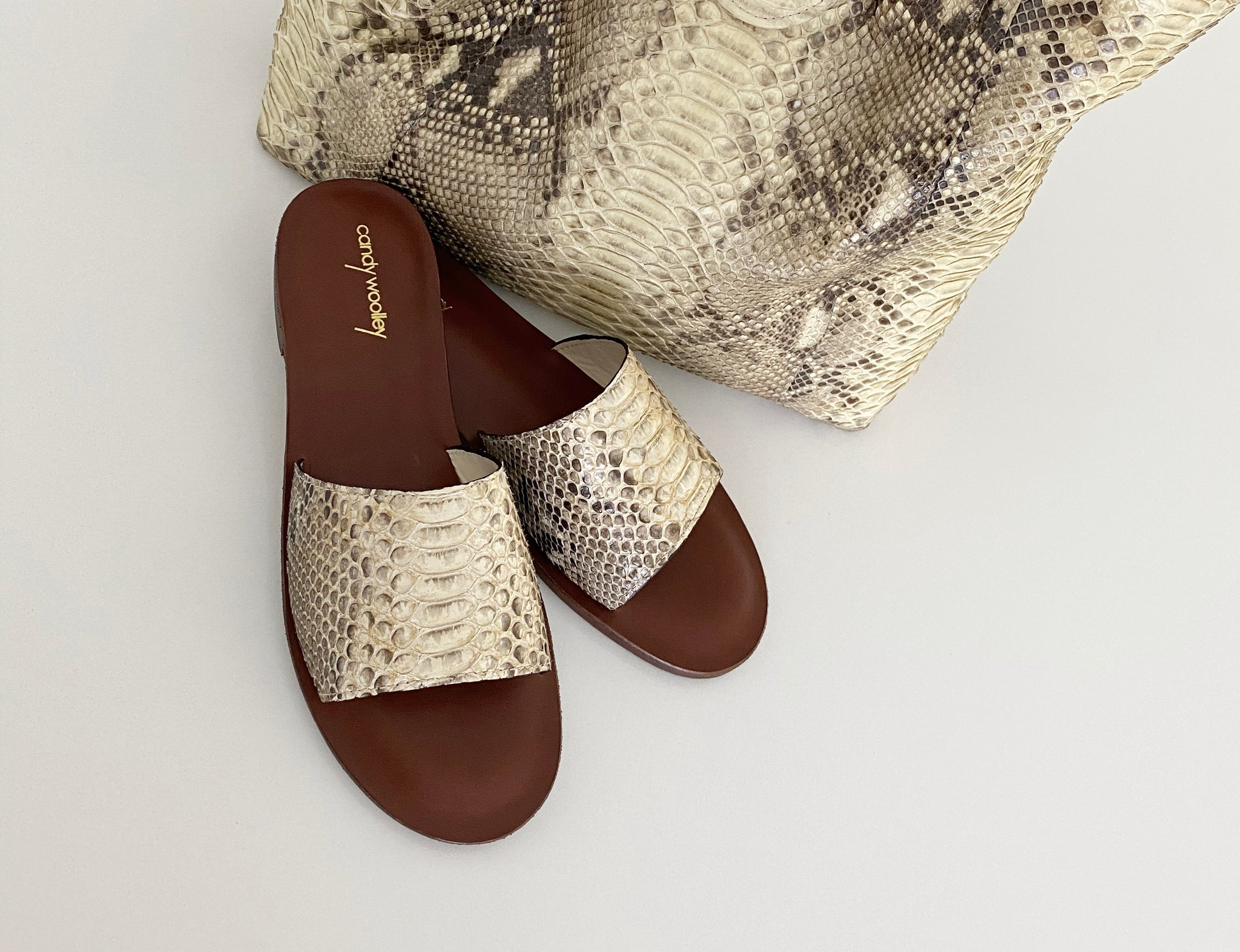 Python Flat Slide Sandals. Sizes Available 6-11. [NEW: NON-SLIP & SOLE PROTECTOR]