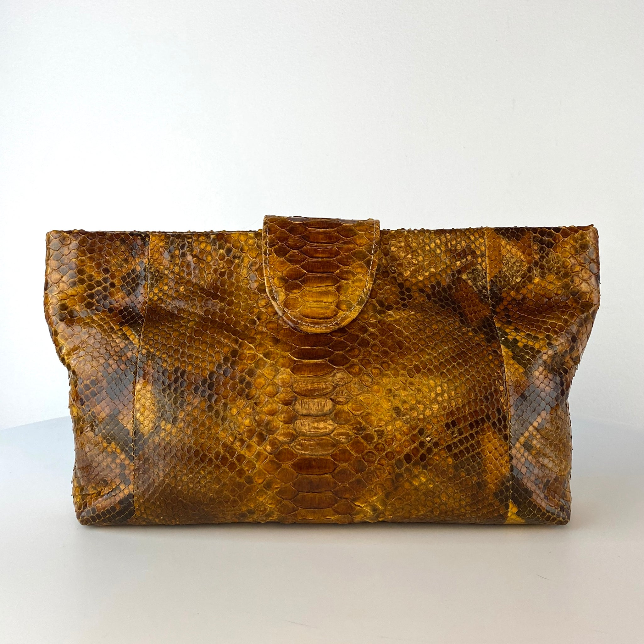 NELLY POUCH BAG, BROWN EXOTIC