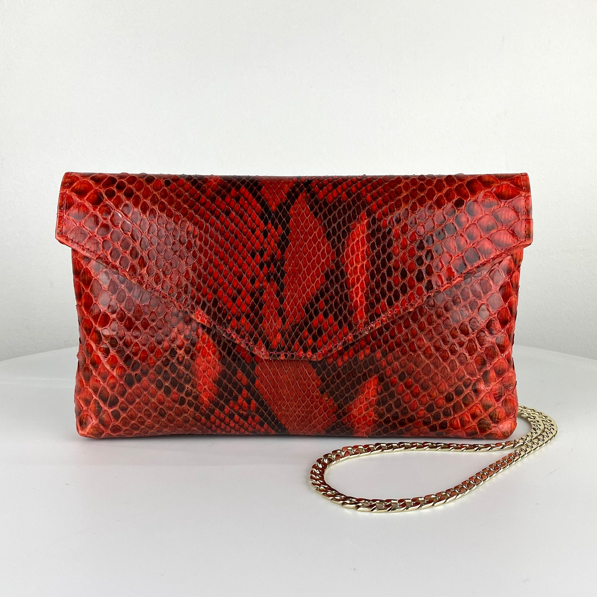 CLASSIC ENVELOPE BAG, RED EXOTIC