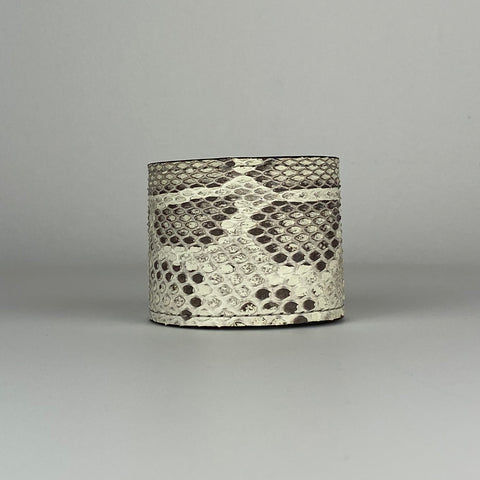 BLACK & WHITE SNAKESKIN CUFF L/XL ADJUSTABLE