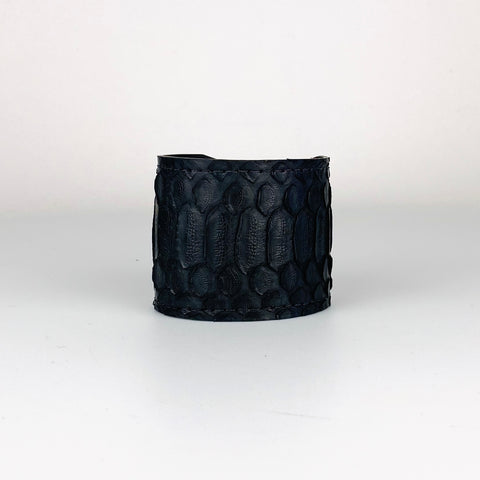 BLACK SNAKESKIN CUFF S/M ADJUSTABLE