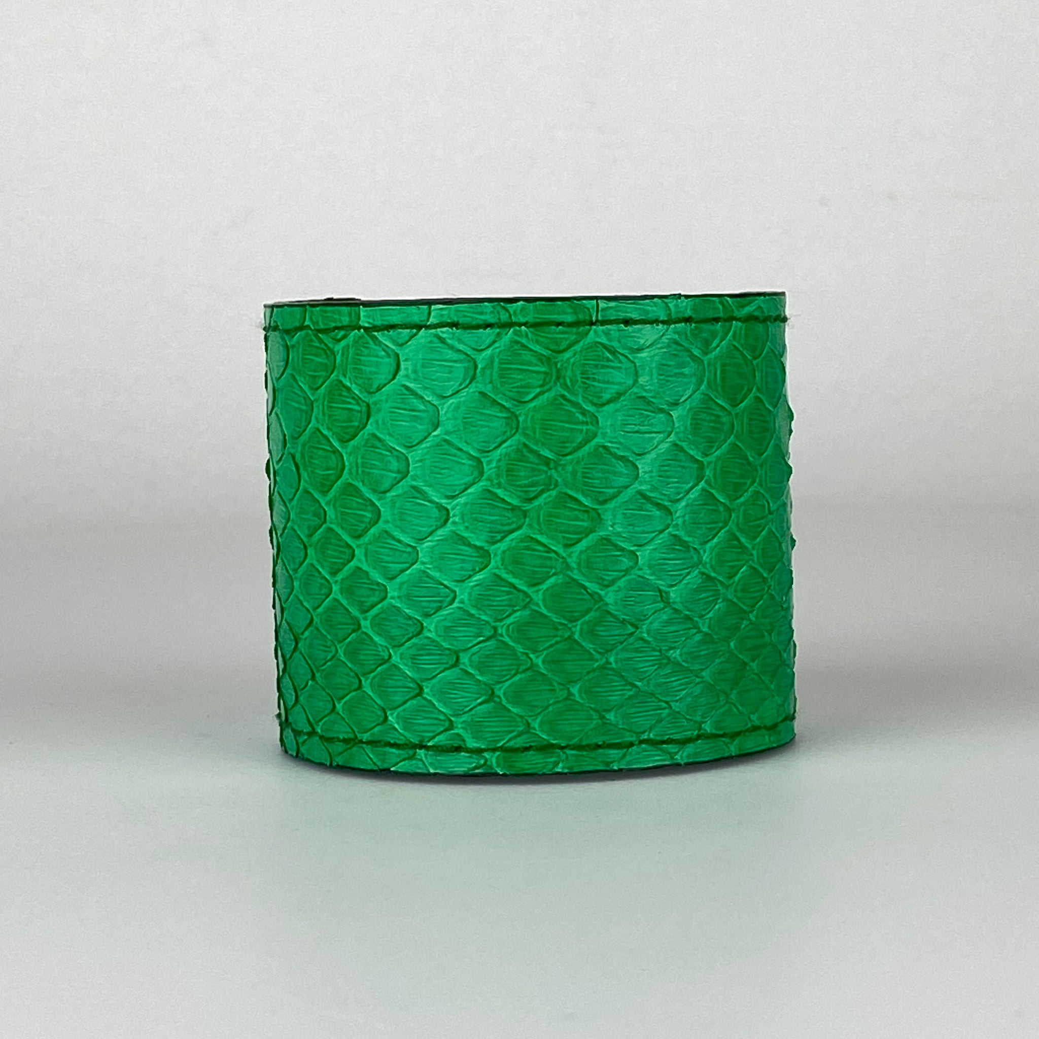 GREEN SNAKESKIN CUFF S/M ADJUSTABLE