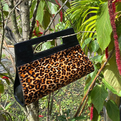 WINDOW BAG, CALF HAIR, LEOPARD-PRINT