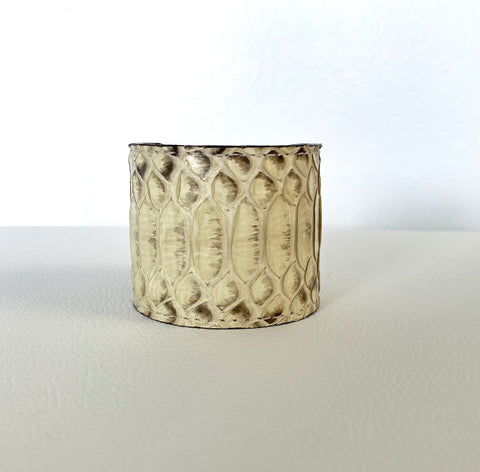 OFF-WHITE SNAKESKIN CUFF S/M ADJUSTABLE