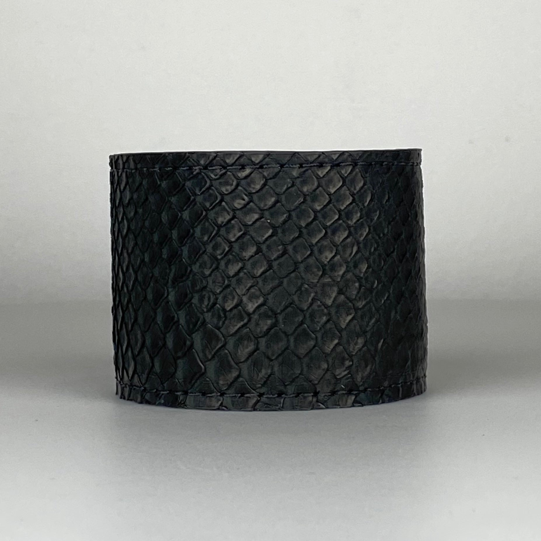 BLACK SNAKESKIN CUFF L/XL ADJUSTABLE