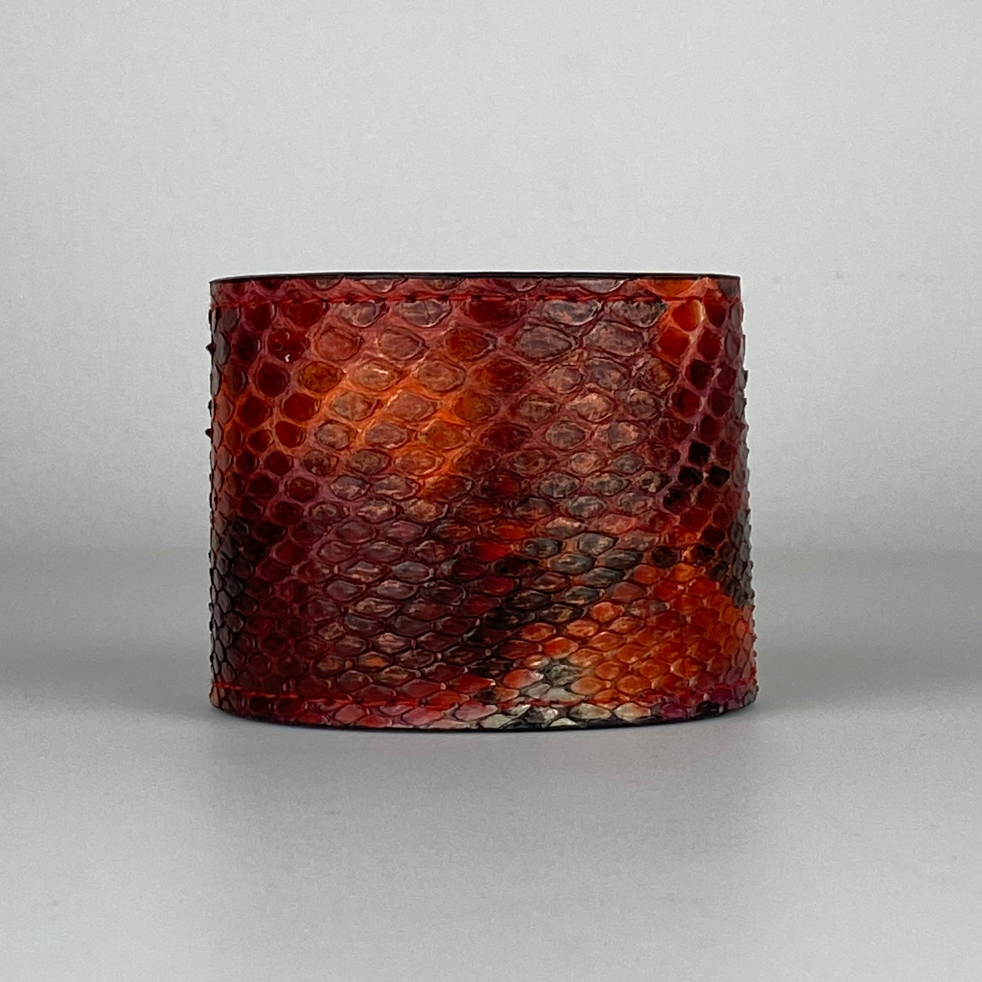 RED & ORANGE SNAKESKIN CUFF L/XL ADJUSTABLE