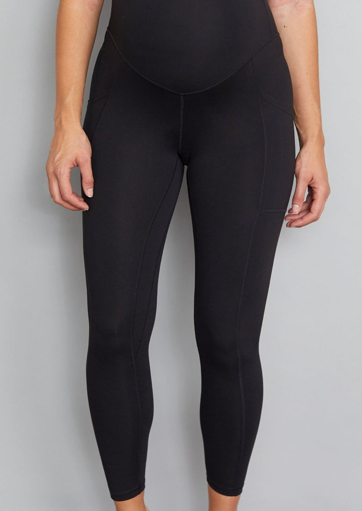 Luxe Maternity/Postnatal  Leggings - Soft Black
