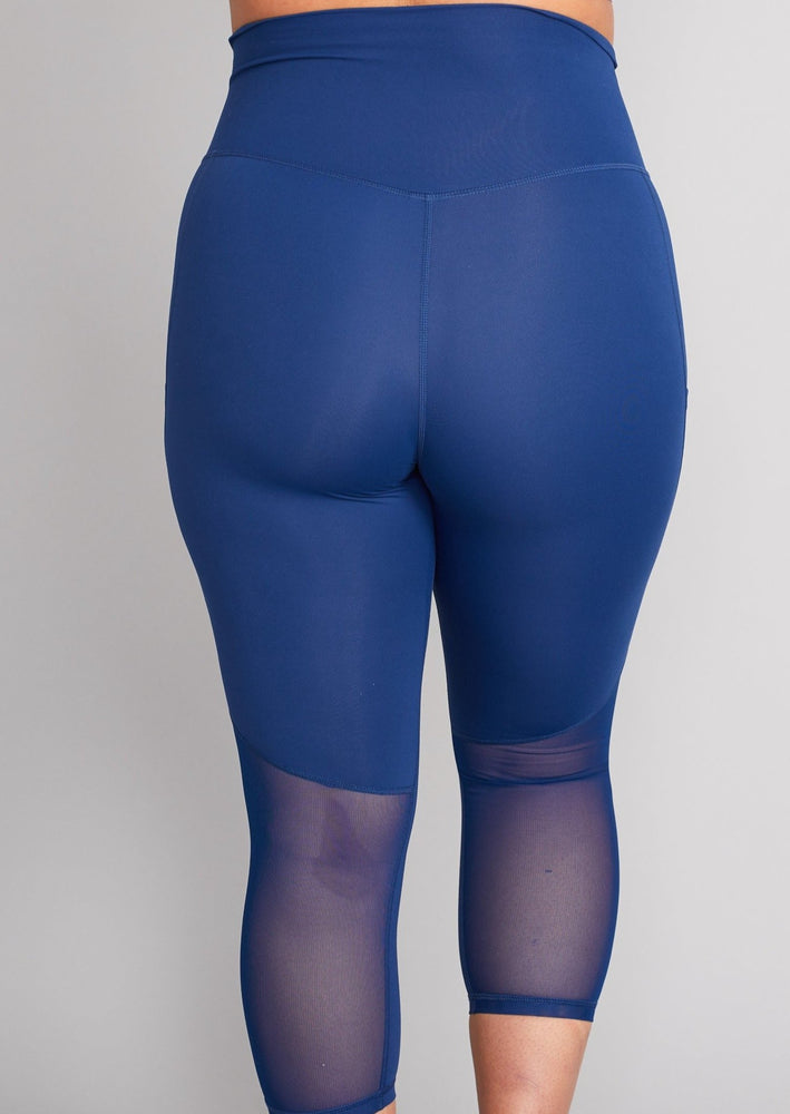 Luxe Maternity/Postnatal Crop Leggings - Soft Cobalt