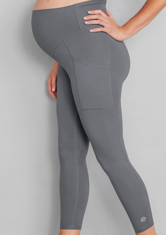 Luxe Maternity/Postnatal  Leggings - Soft Grey