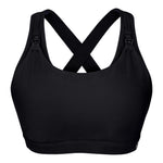 Artemis Total Comfort Nursing Sports Bra in Jet Black (B-H cup)