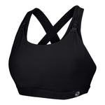 Artemis Total Comfort Nursing Sports Bra in Jet Black (C-H cup)