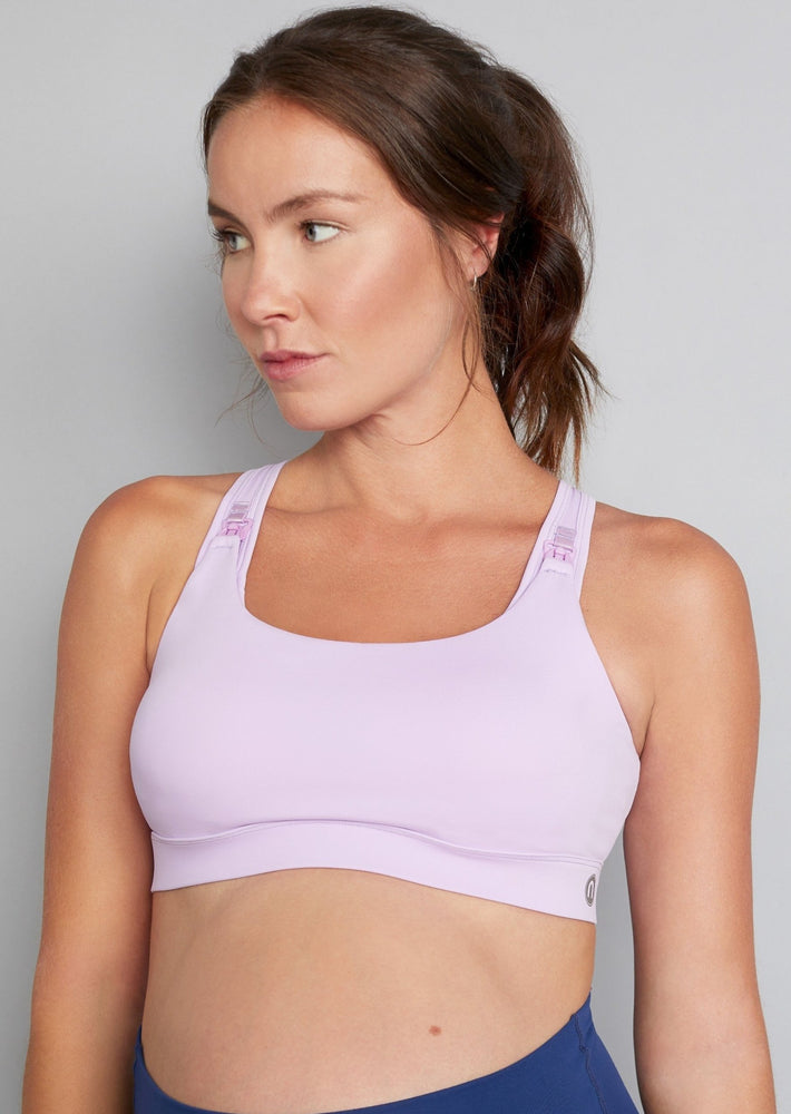 Vitality Nursing Sports Bra in Lilac Sorbet (Sizes B-F)