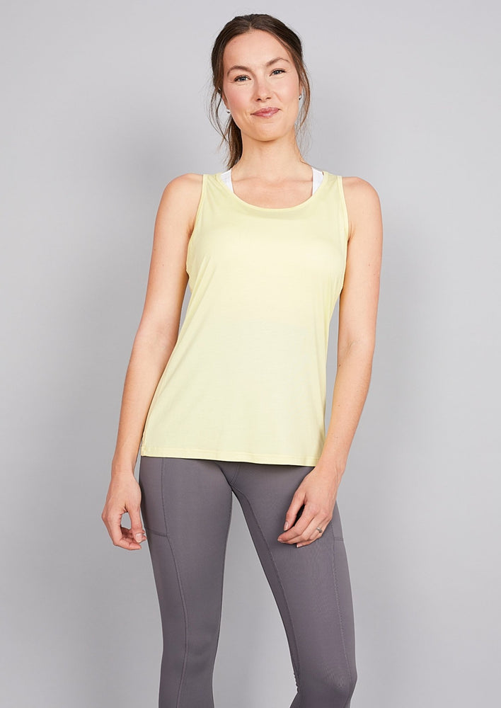Maternity/Nursing Tank - Lemon Yellow