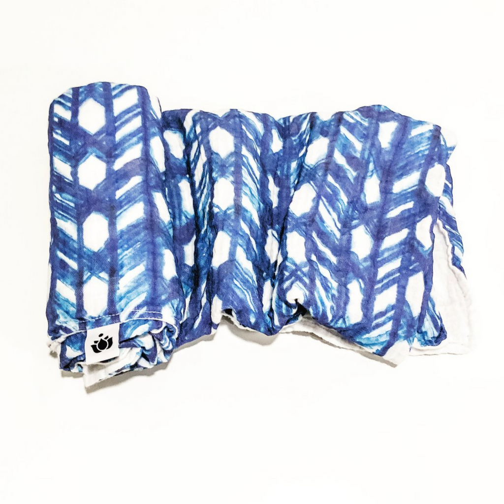 Shibori Lattice Swaddle Quilt