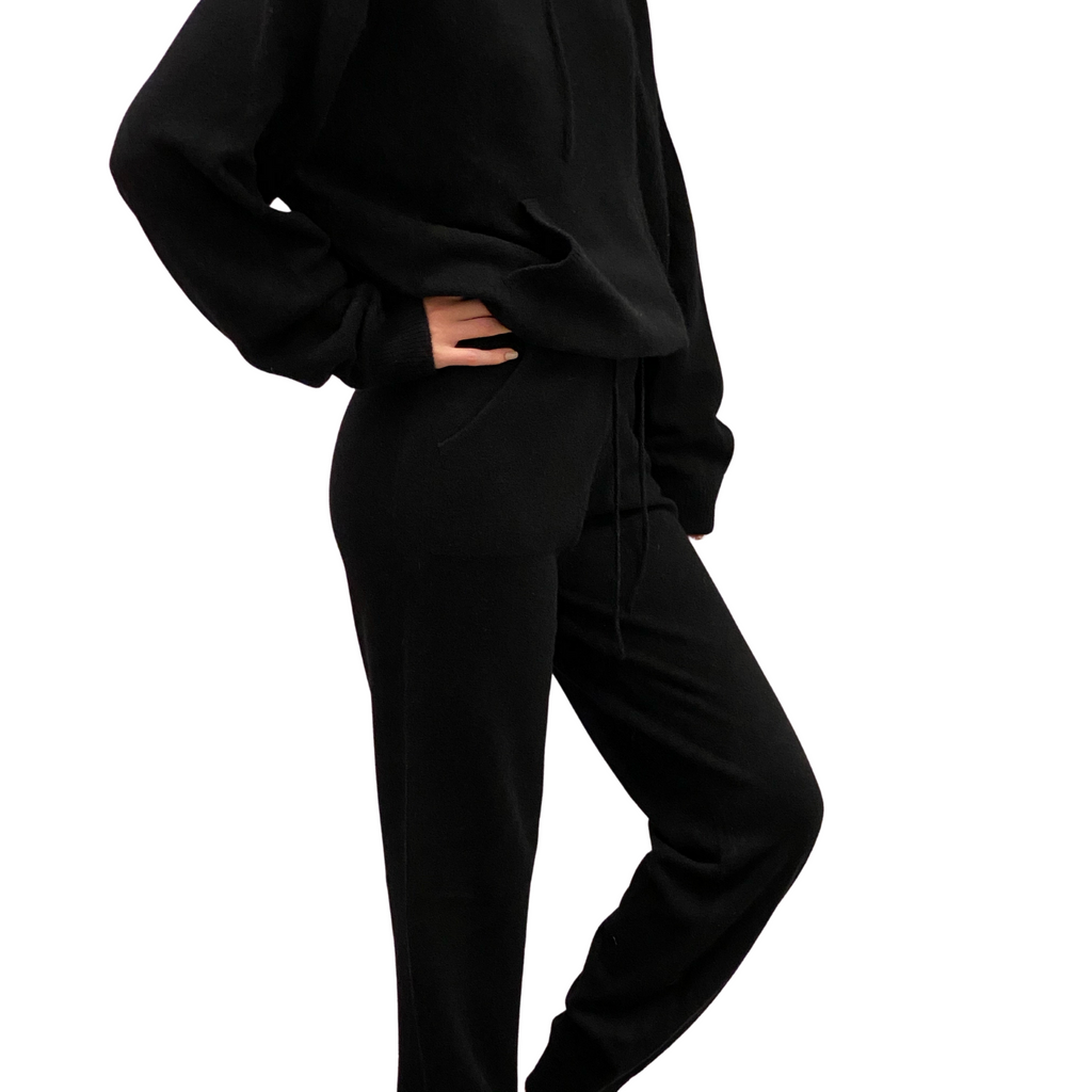 Ankle Cuff Trouser- Black