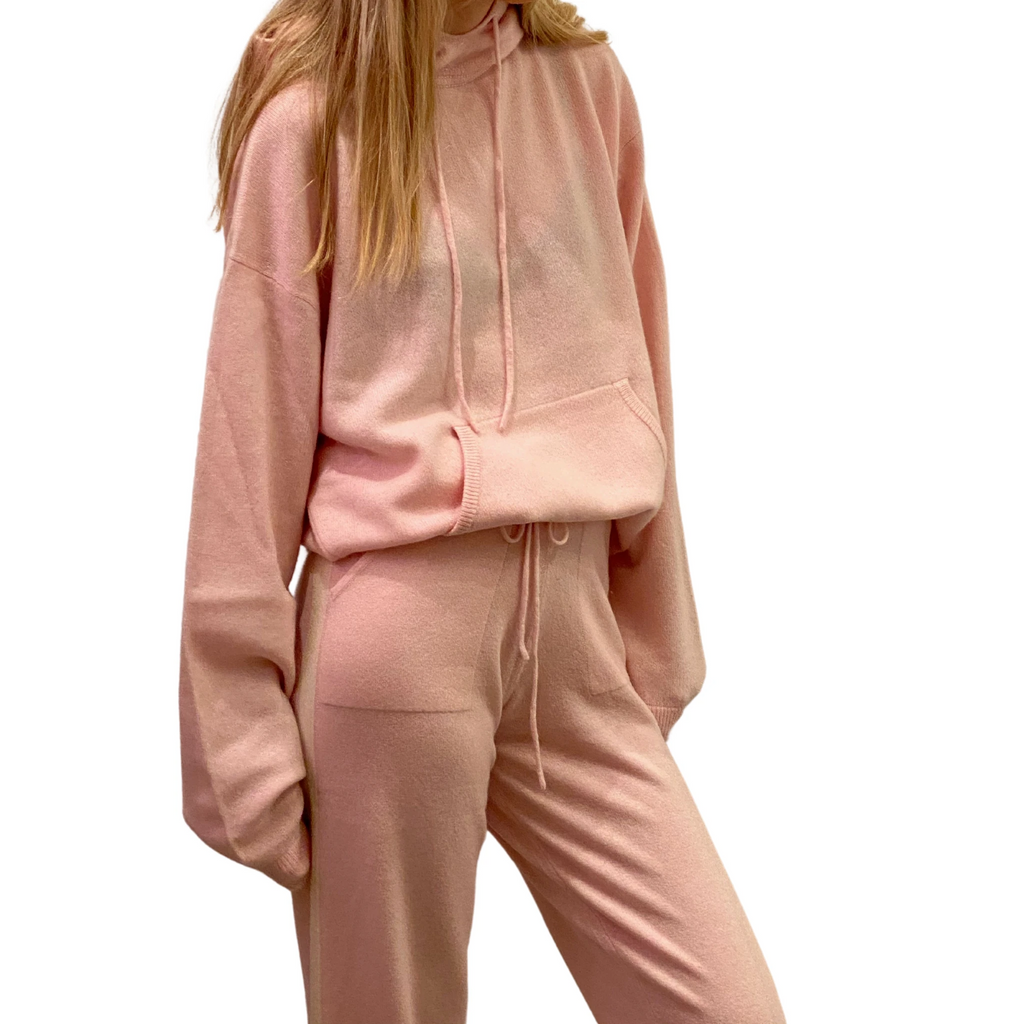 Cashmere Hoodie- Light Pink