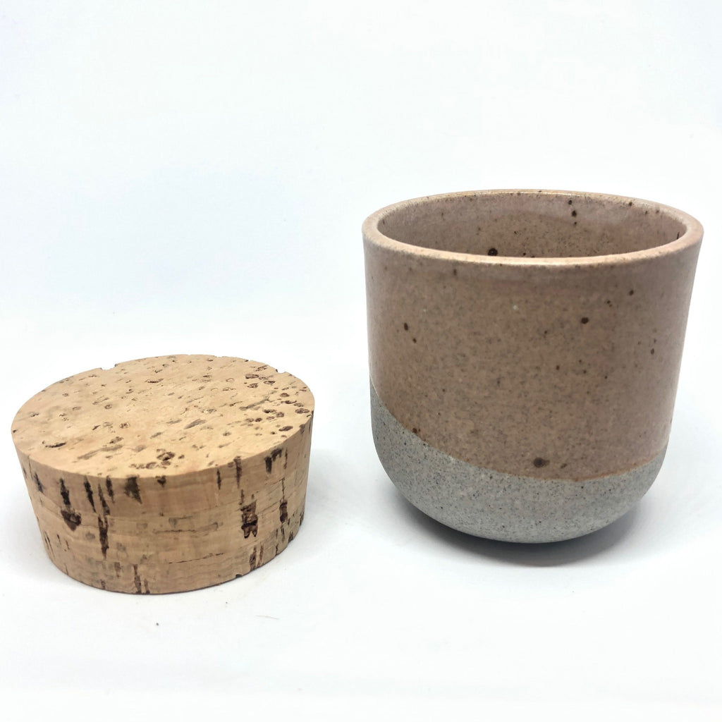 Alder Canister w/ Classic Cork - Greystone/English Rose