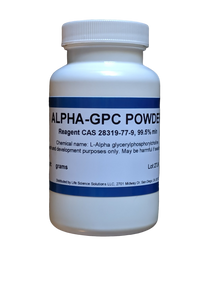 Alpha GPC Powder, purity 99.8%, 10 Grams
