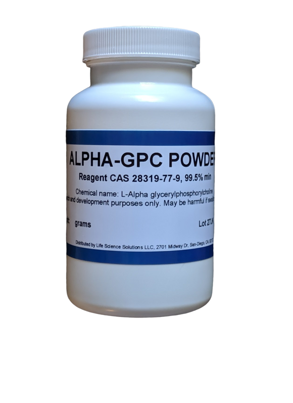 Alpha GPC Powder, purity 99.8%, 50 Grams